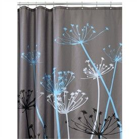 Modern Shower Curtain Blue And Gray Shower Curtains Amazon