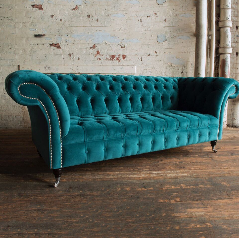 Image Result For Turquoise Chesterfield Sofa Teal Velvet Sofa Velvet Chesterfield Sofa Teal Living Room Decor