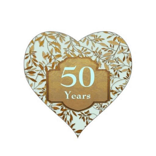 Leaves Of Gold 50th Wedding Anniversary Stickers