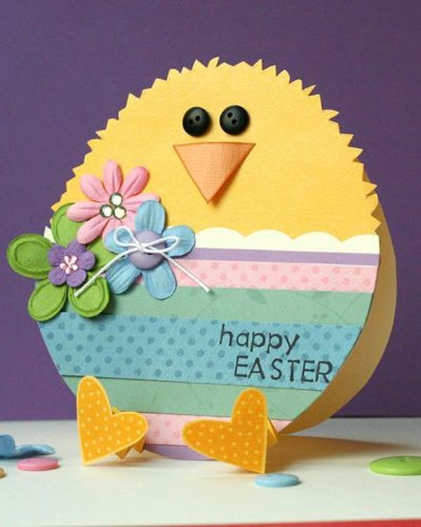 Handmade Easter Cards Ideas Easel And Shaped Cards Easter