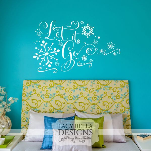 Let It Go Lacy Bella Personalized Vinyl Lettering And Wall - Custom vinyl wall decals disney