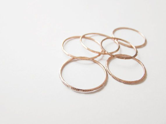 Rose gold thin textured ring,simple ring,textured ring,sterling silver,stack ring,jewelry,faceted ring,delicate ring,RGR78