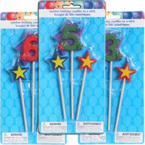 Bulk Number Birthday Candles On A Stick 3 Pc Packs At DollarTree