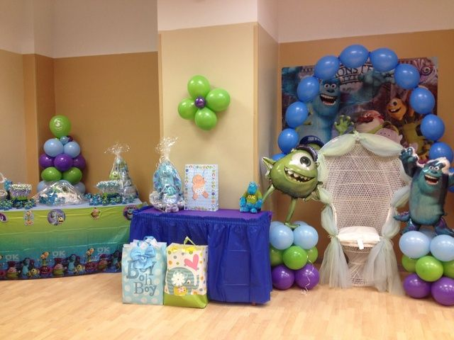 Monsters Inc Baby Shower Shaquera Paul S Shower Catch My Party Monsters Inc Baby Shower Monsters Inc Baby Monster Baby Showers