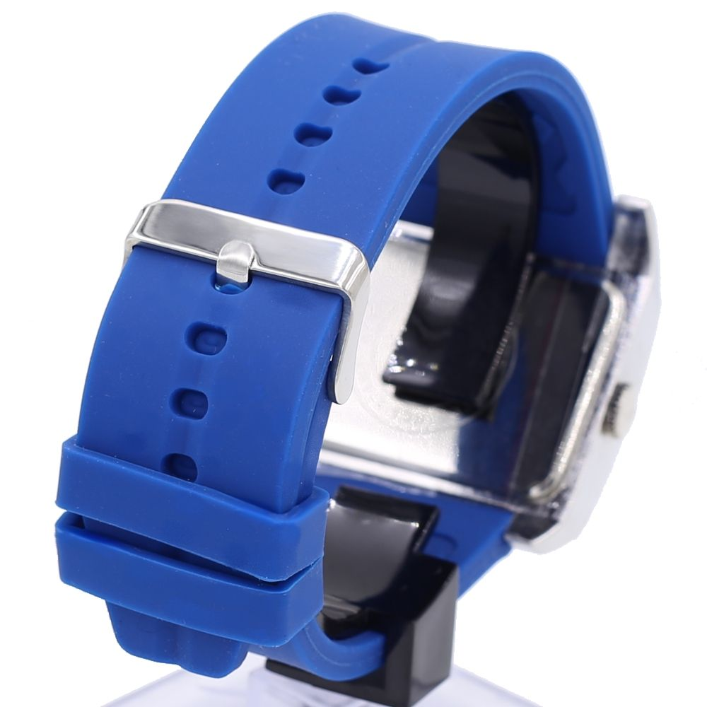 FW606J PNP Matt Silver Uhrgehäuse-Silikon-Blau-Band Unisex-elegante Mode Uhr