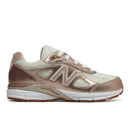 best website 852ed 98d04 New Balance 990v4 Kids' 990v4 Shoes - Gold/Off White ...