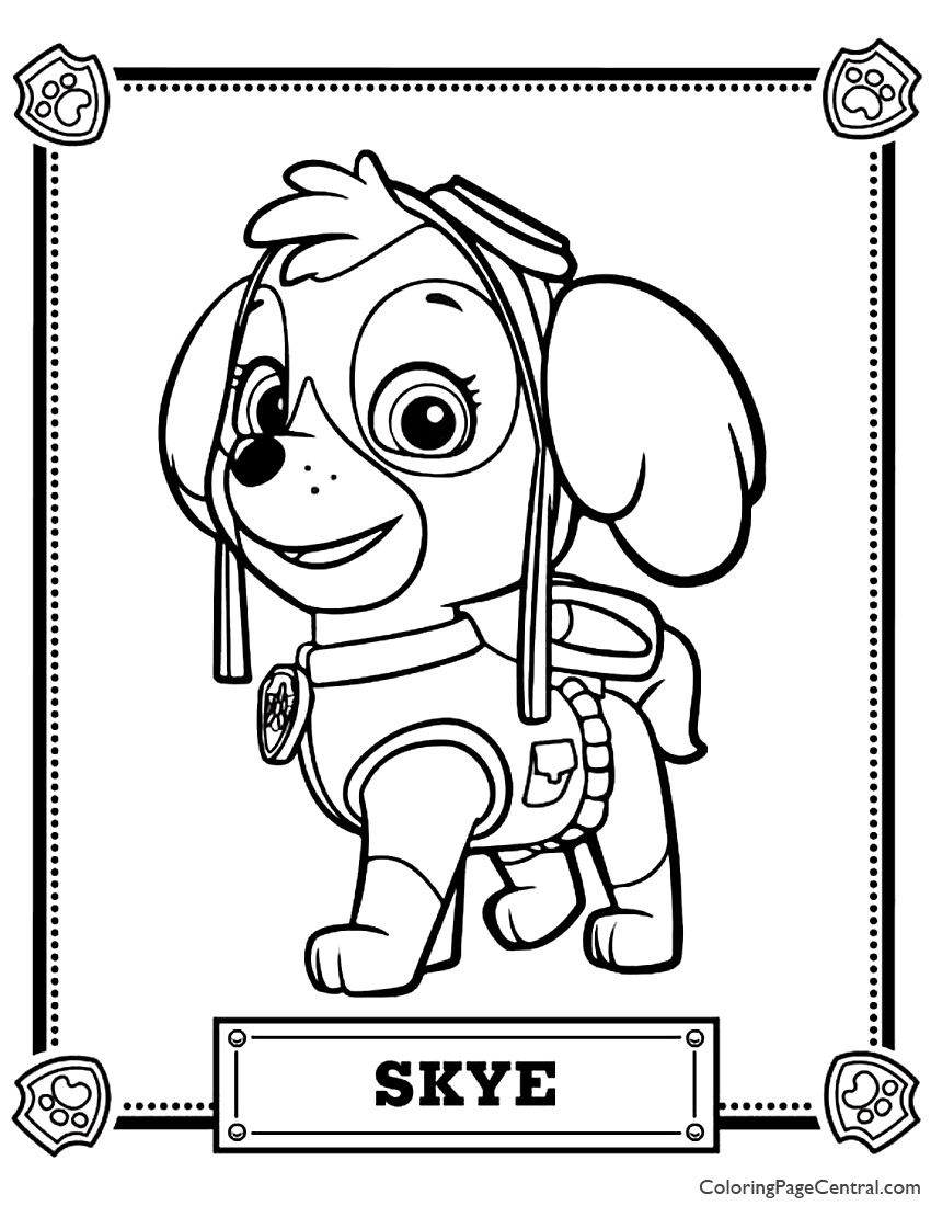 Skye Paw Patrol Coloring Page Youngandtae Com Paw Patrol Coloring Pages Paw Patrol Coloring Coloring Books