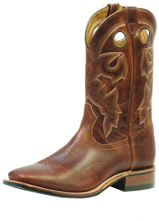 4fd5b2399d7 Boulet Western Boots Men Cowboy Leather Rider 8.5 3E Damiana Moka ...
