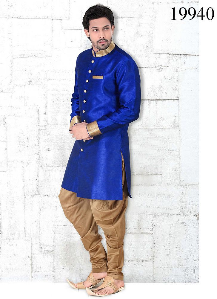 Readymade Casual stitched Pajama Indian Mens Traditional Kurta ...