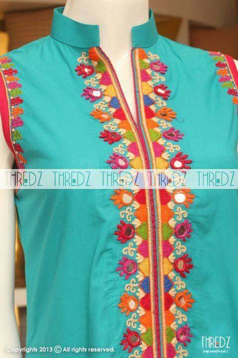 Mirror work needle art pinterest embroidery kurti