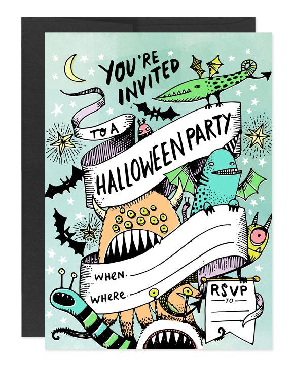 free printable halloween party invite pinterest halloween