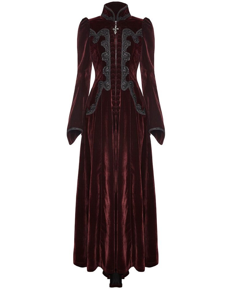 Punk Rave Skirt Long Black Velvet Gothic Lace VTG Victorian Regency Steampunk
