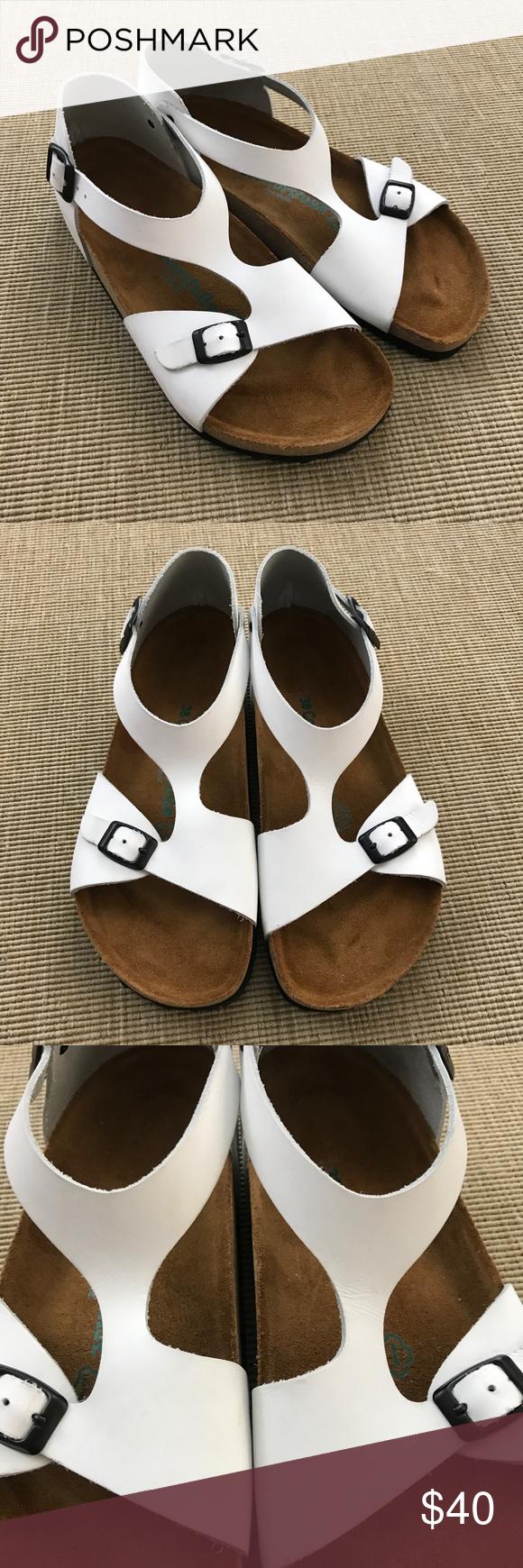 Sandals 38 New T Strap Comfortfusse Cajls453rq White Eu Size thxrQCsd