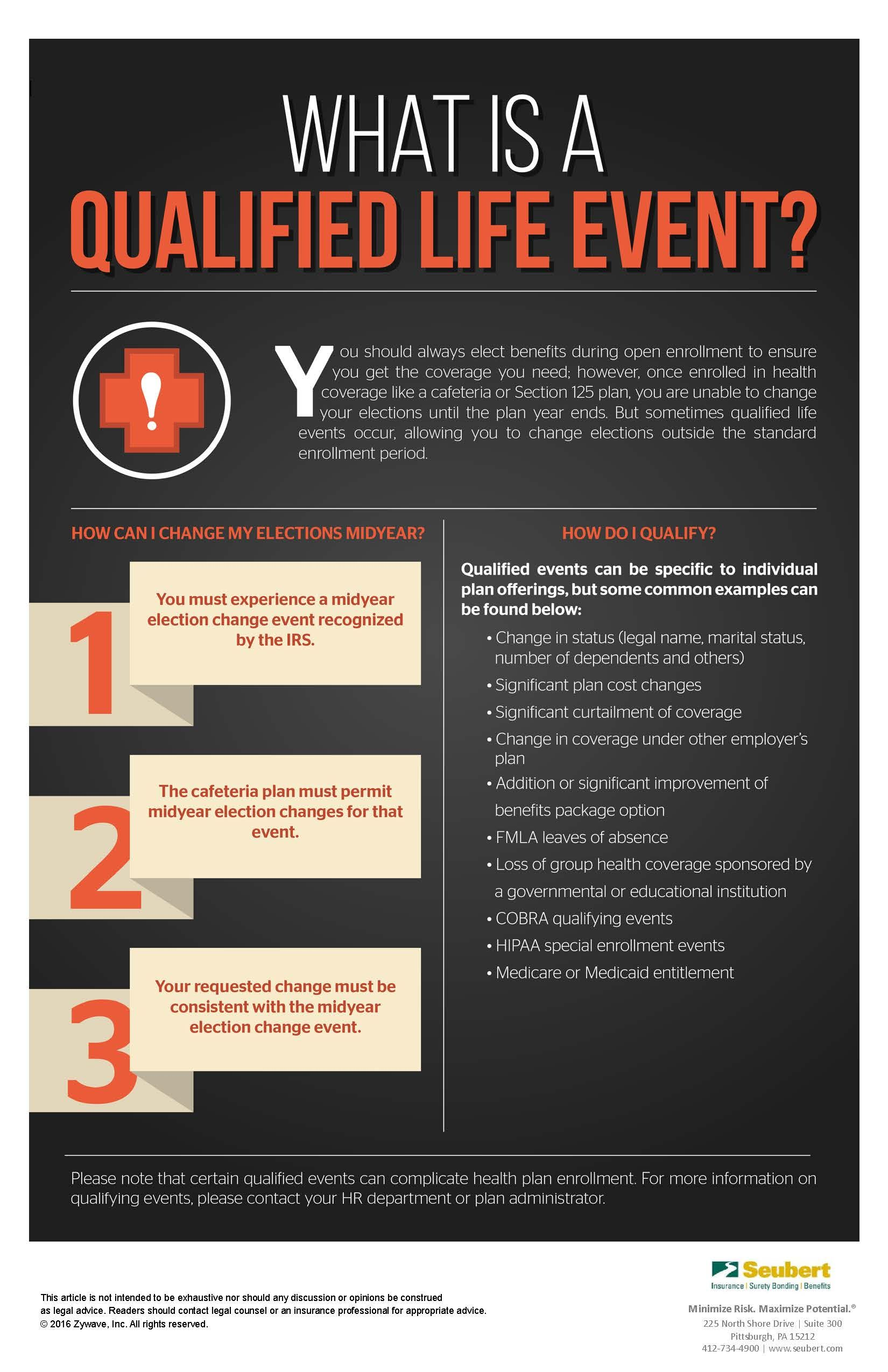 What Is A Qualified Life Event Personal Health Good To Know