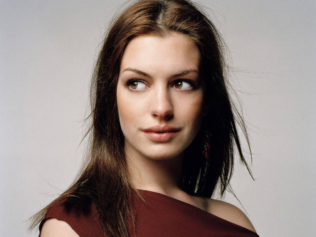 Red Dress Anne Hathaway Hd Desktop Wallpaper Screensaver
