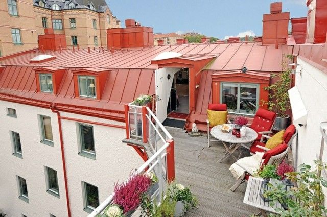 Bilder Ideen Holz Terrasse Dielenboden Pflanzen | Balkon/terrasse ... 25 Balkongestaltung Ideen Gemutliche Sitzecke Arrangieren