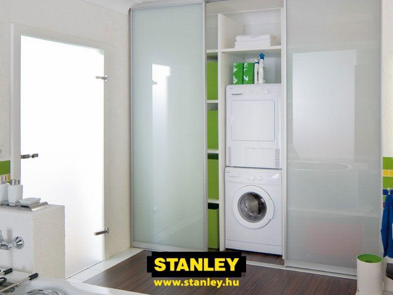 Trockner Und Waschmaschine übereinander ideen für das wohnen mit geräten falttür versteckt waschmaschine