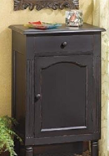 Antique Replica Cabinet Home Decor Furniture Black Wood Bedside Stand Gift FB #HomeLocomotion