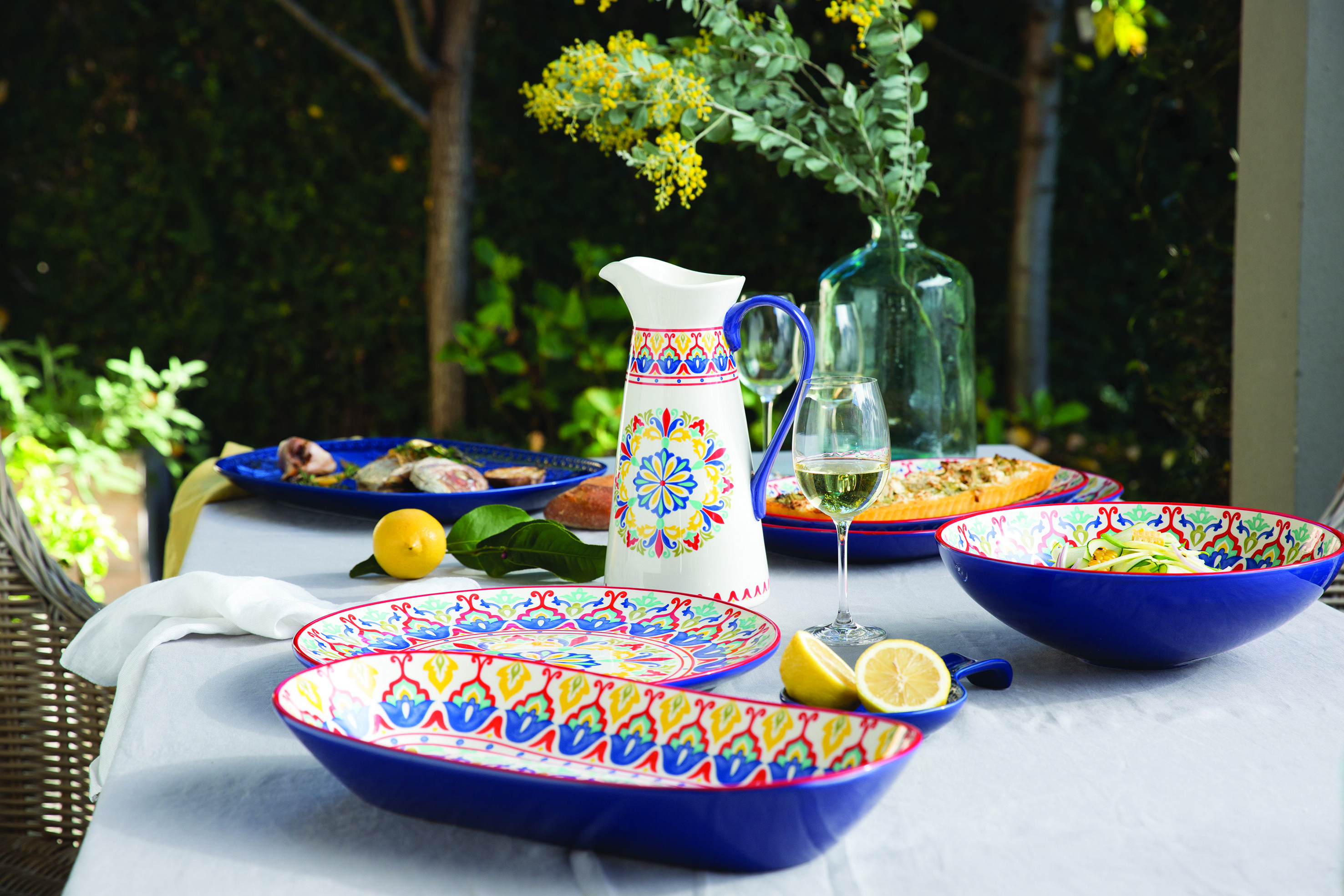 The Lanka collection is inspired by traditional Mediterranean tableware #maxwellandwilliams #lanka #serveware # & The Lanka collection is inspired by traditional Mediterranean ...