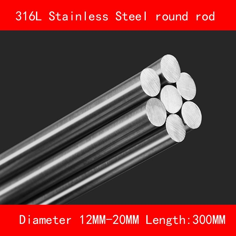 Universe Of Goods Buy 316l Stainless Steel Round Bar Diameter 12mm 15mm 20mm Length 300mm Metal Rod For Round Bar 316l Stainless Steel Stainless Steel Rod