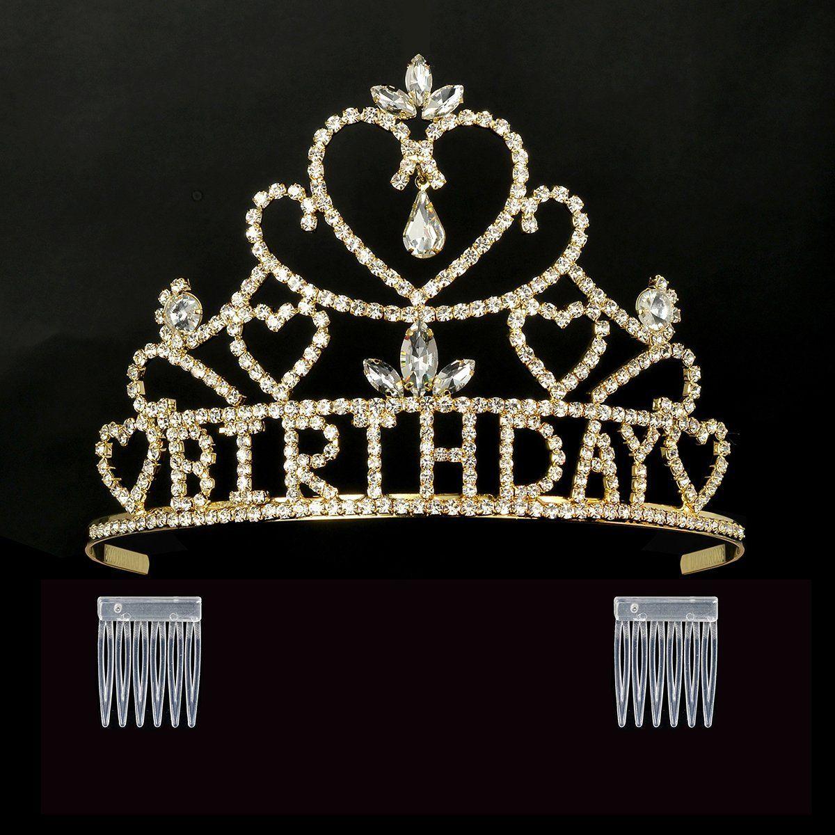 Dczerong queens birthday tiara crown gold