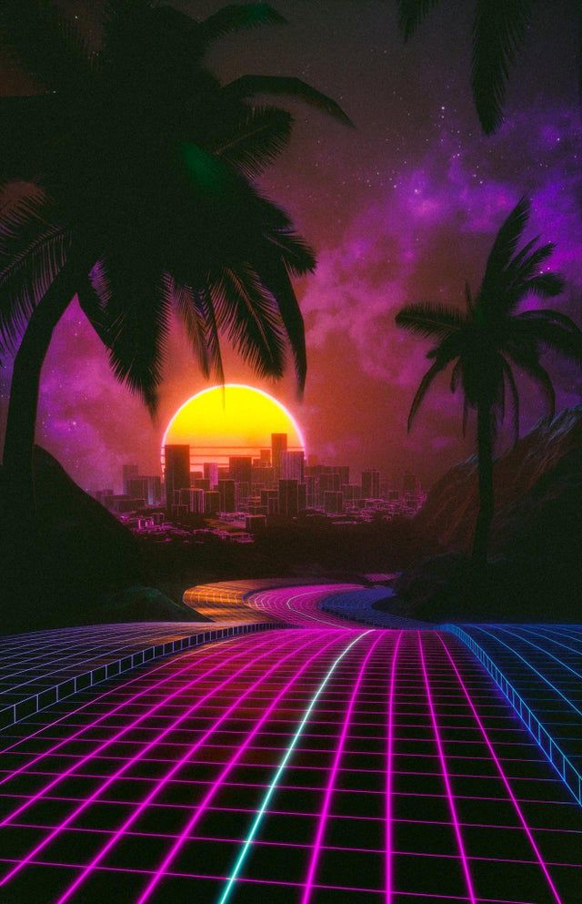 My second outrun themed render
