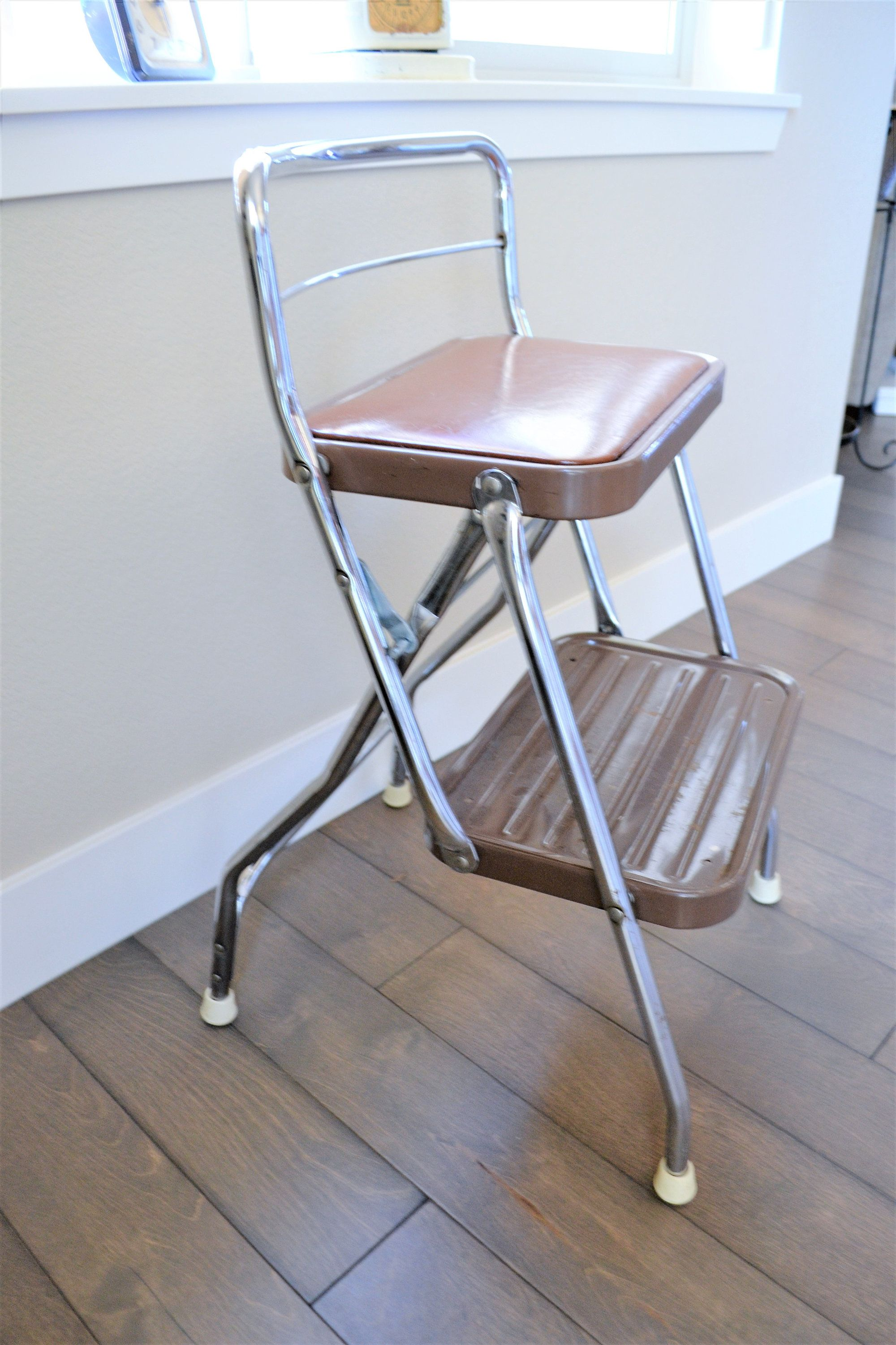 Swell Vintage Metal Step Stool Metal Kitchen Stool Mid Century Andrewgaddart Wooden Chair Designs For Living Room Andrewgaddartcom