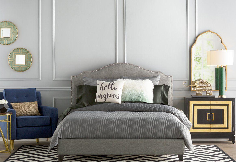 Roselawn Upholstered Platform Bed King bed frame, Bed
