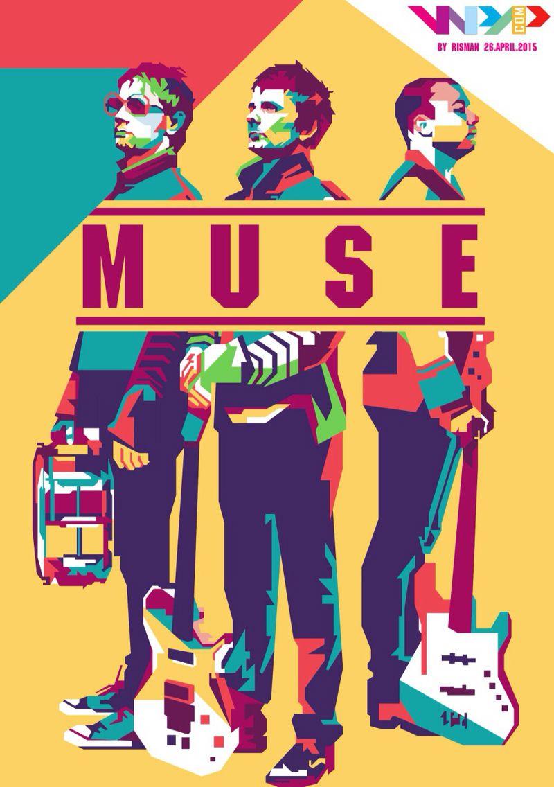 Muse Band Legend Music Rock Alternatif England Indonesia Popart Style Bandas De Musica Artics Monkeys Musica Dibujos