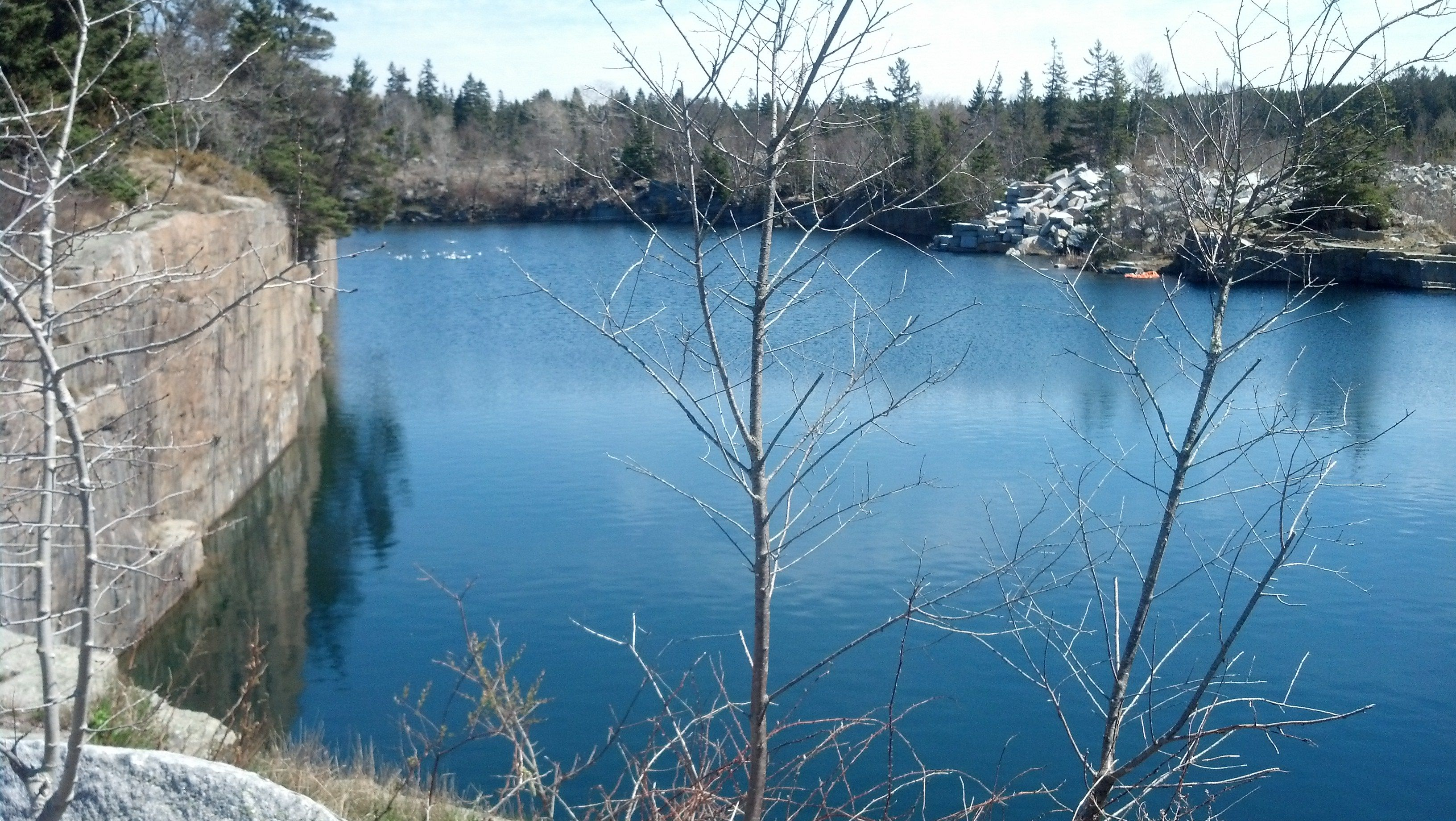 A Beautiful Old Granite Quarry In Vinal Haven Maine So