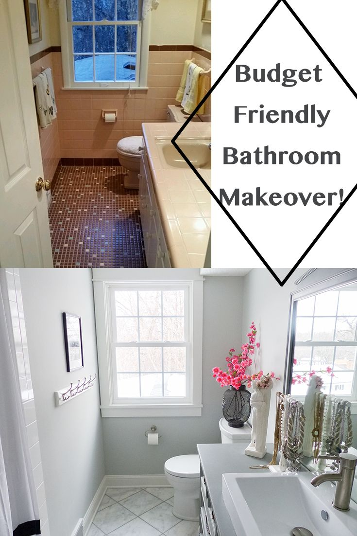 Budget Friendly Bathroom Makeover Small Bathroom Remodel