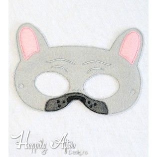 French Bulldog Mask ITH Embroidery Design