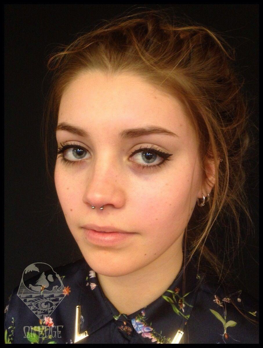 Simple Natural Make Up Nose Piercing Septum Piercing Piercings