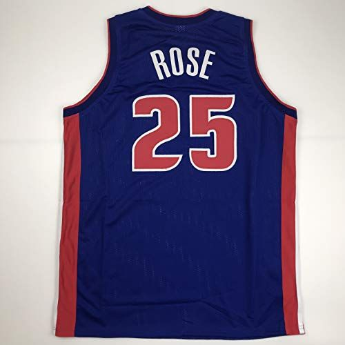 Unsigned Derrick Rose Detroit Blue Custom Stitched Basketball Jersey Size Mens XL New No