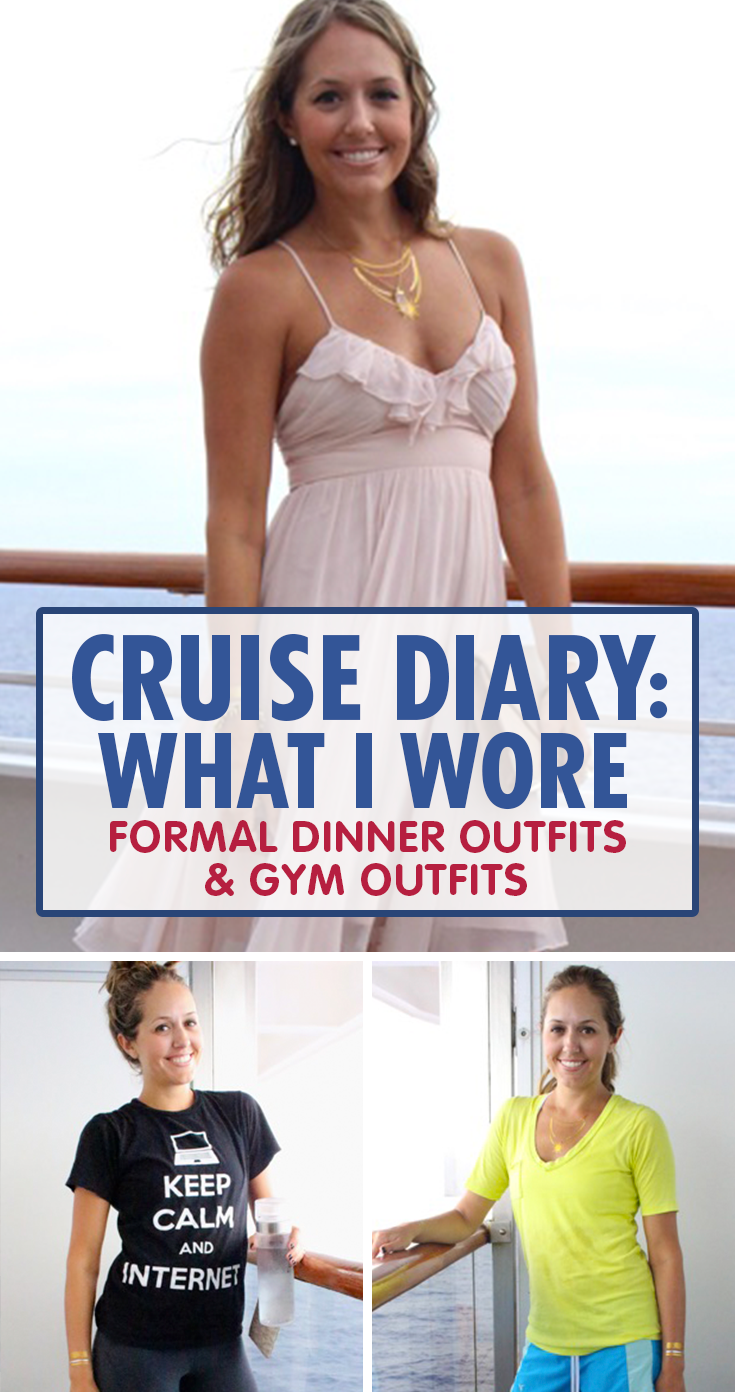 d03a669a7db Here s what to wear when it s time to sweat it out or time to get fancy on  a cruise.