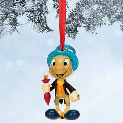 "Disney Jiminy Cricket Sketchbook Christmas Ornament ""Give a Little Whistle"""