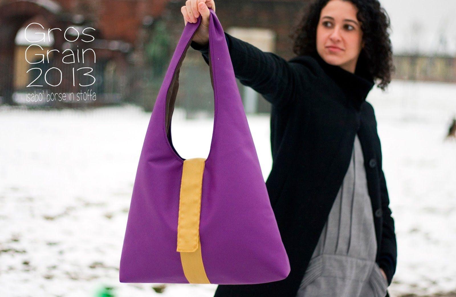 Isabo borse in stoffa: gros grain in ecopelle viola borse pinterest