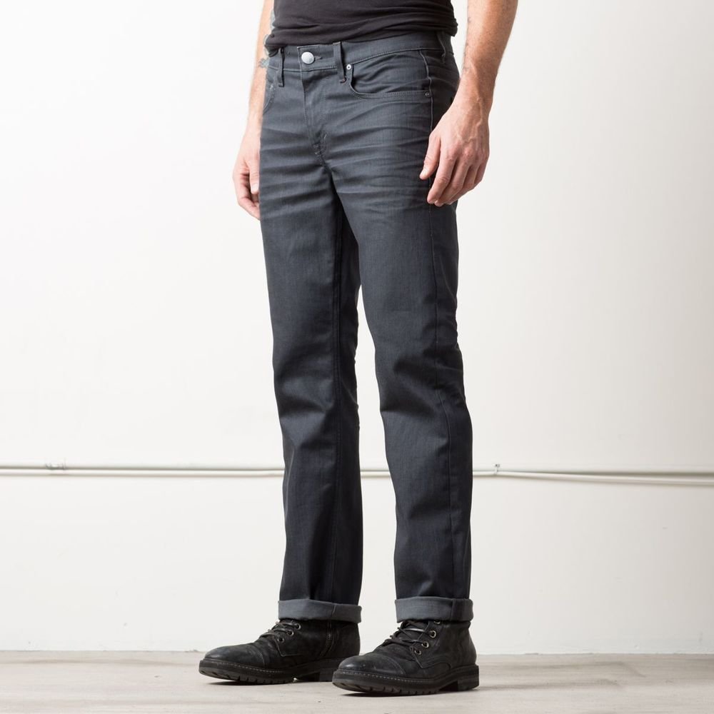 Mens Slim Jeans In Charcoal Ring Spun Italian Slub Denim | DSTLD Luxury Jeans & Essentials | No Retail Markup