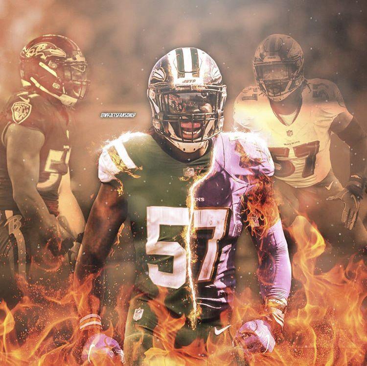 Cj Mosley Ravens And Jets Edit Jets Football Nfl American Football