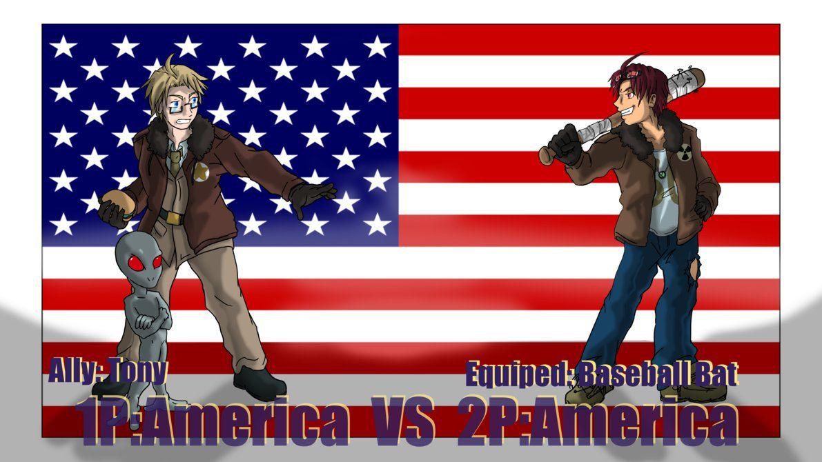 Hetalia Fights: 1P vs 2PAmerica by Sagealina.deviantart.com on @DeviantArt