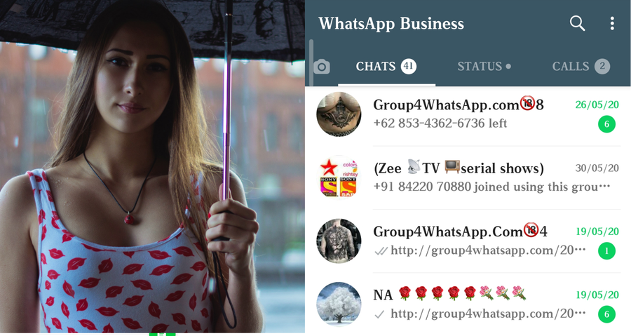 Sexy whatsapp open