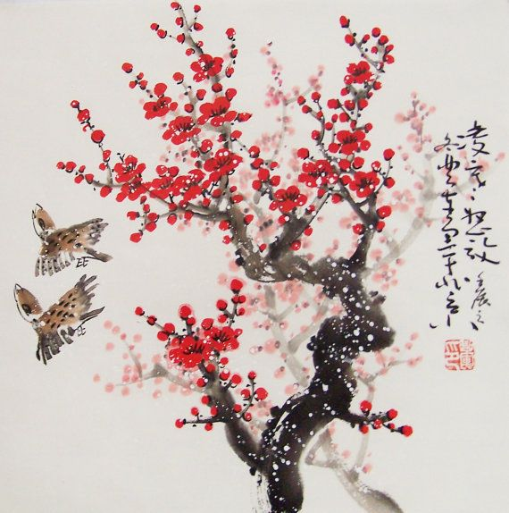 Cherry Tree Chineese Image Google Search Cherry Blossom Painting Chinese Drawings Japanese Blossom