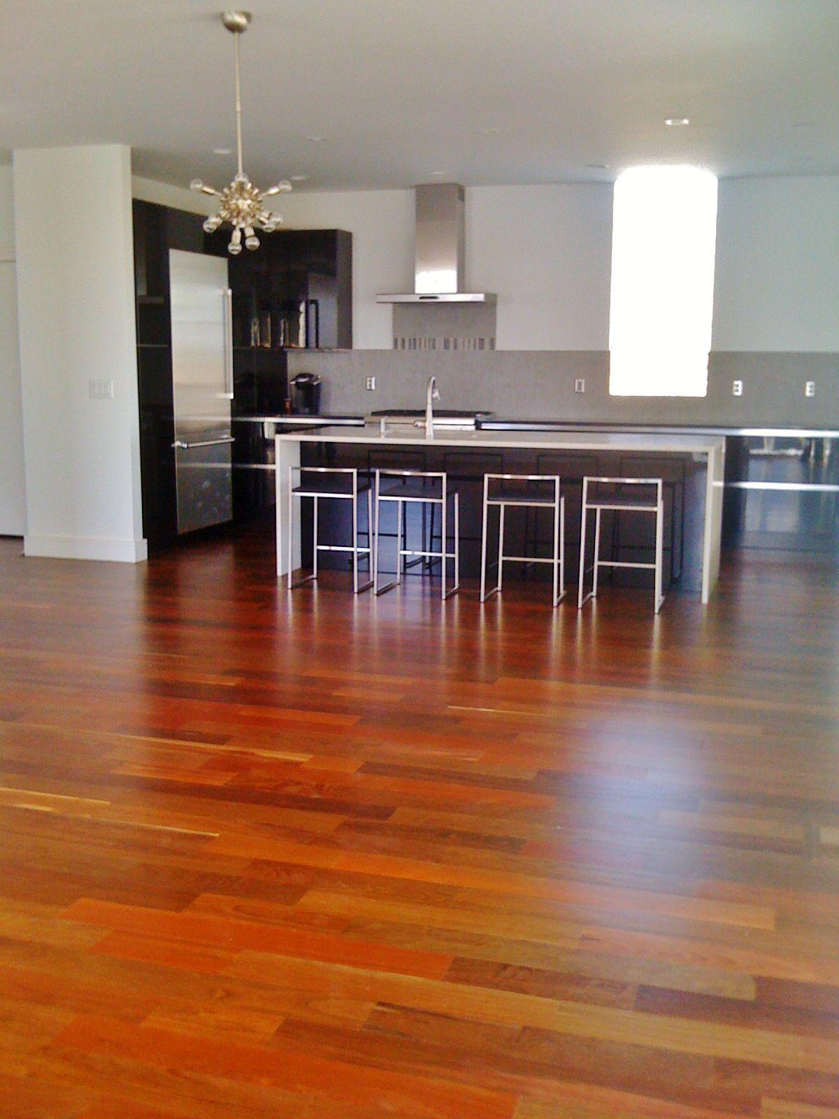 Ipe Hardwood Floors With 3 Coats Of