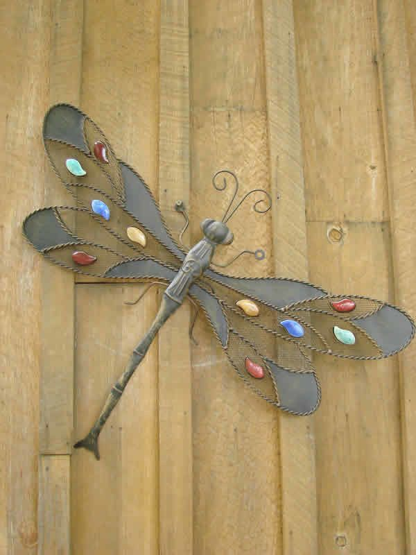 This fantastic and fun metal Dragonfly Wall Décor can bring to your ...