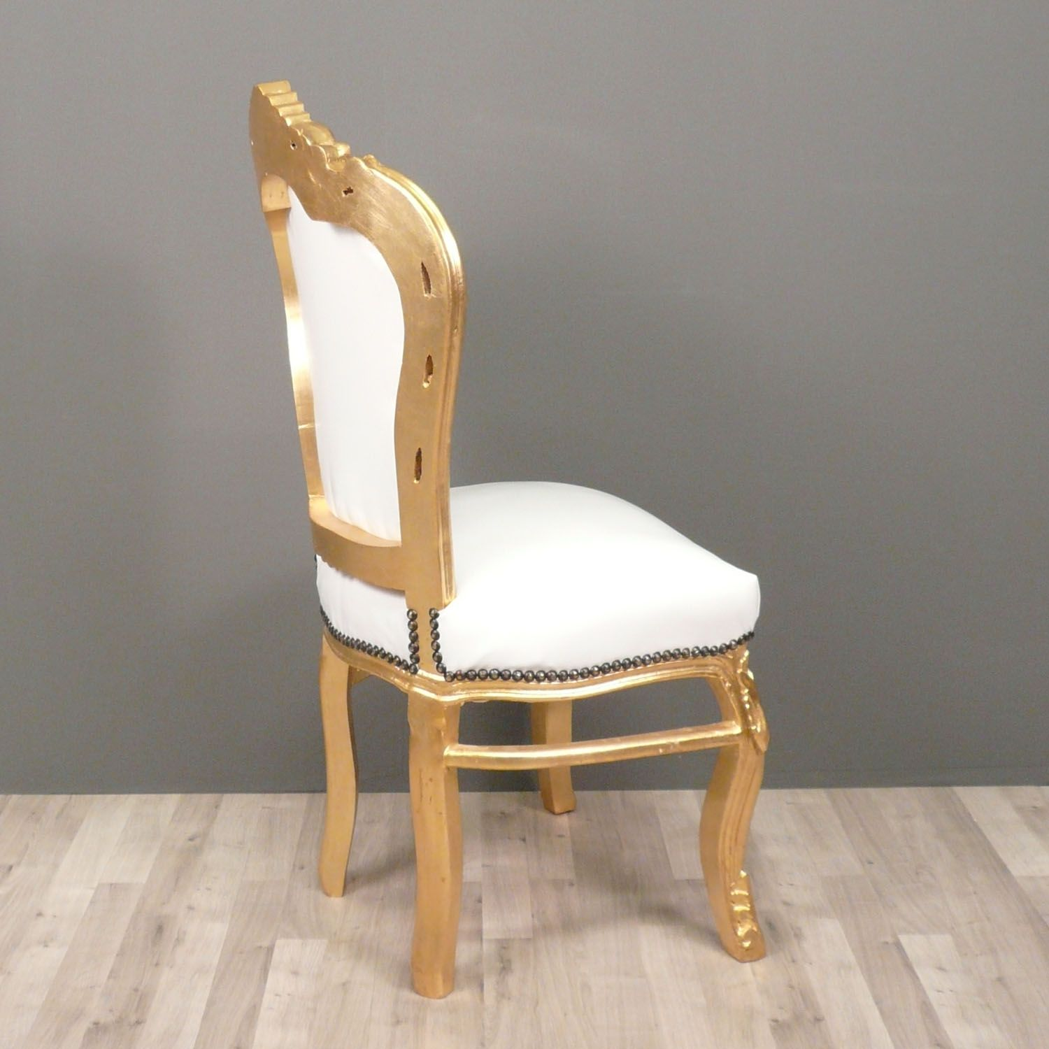 Baroque chair white and gold chairs pinterest baroque chairs and gold - Stoel dineren baroque ...