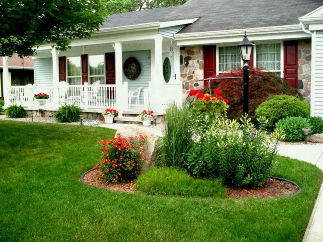 30 Awesome Flower Garden Design For Your Front Yard Front