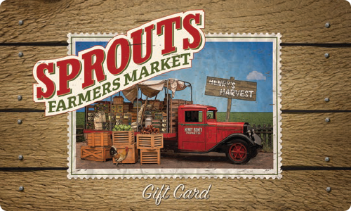Gift card to Sprouts to fund Collin's fancy grocery habit