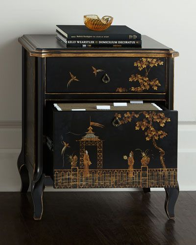 Chinoiserie File Cabinet