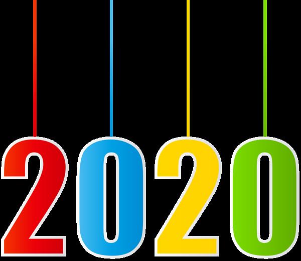 2020 Hanging Transparent Clipart   Clip art, Happy new ...