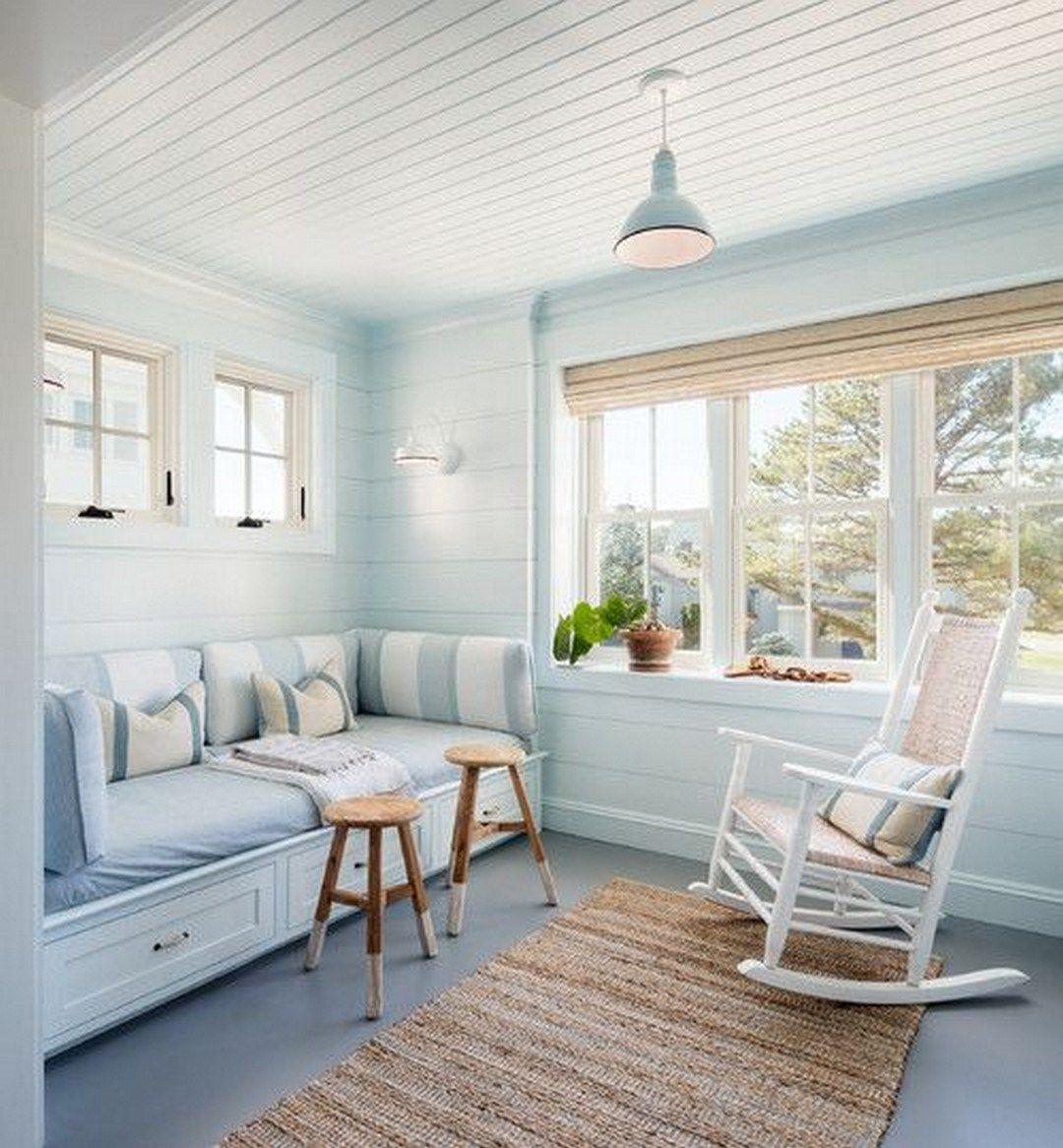 Interior Sunroom Addition Ideas: Cozy Modern Farmhouse Sunroom Design Ideas (35)